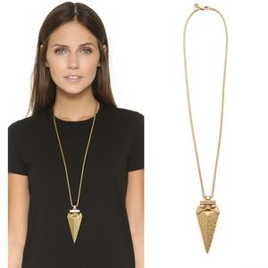 NEW Tory Burch Gold Arrowhead Pendant Necklace